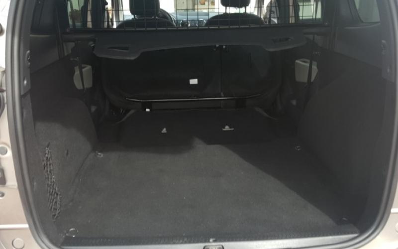 The rear luggage area with the seats down.